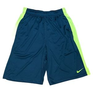 Nike Men's Green & Yellow Athletic Shorts Size S